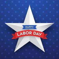 Happy Labor Day Star Vektor Kartenvorlage
