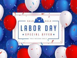 Labor Day Sale Banner Entwurfsvorlage