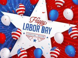 Banningsmall för marknadsföring av Labor Day