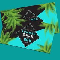 Sommarförsäljning rabatt reklamblad