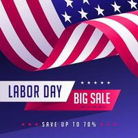 Labor Day Sale Promotional Social Media Post Mall