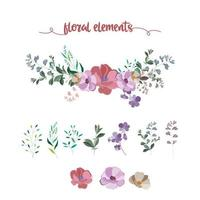 blommig element samling