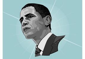 Baracke Obama Vektor Porträt