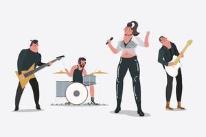 Professionelle Band vektor