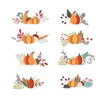 Herbstblumensträuße Sammlung