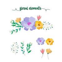 florale Elemente-Auflistung
