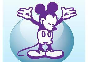Weinlese Mickey vektor
