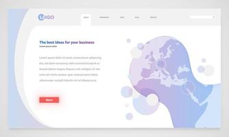 Abstrakt webbplatsmall