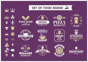 Restaurang Vintage Food Badges