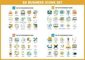 60 Geschäftsikonen eingestellt