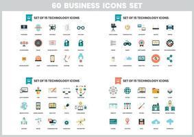 60 Geschäftsikonen eingestellt vektor