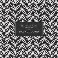 Geometrisk sömlös monokrom upprepande mönster med vågiga linjer