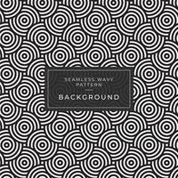 Geometrisk sömlös monokrom upprepande mönster med rundade ränder