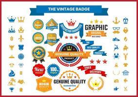 vintage emblem samling vektor