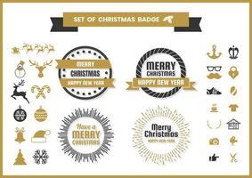 Weihnachten Retro Vektor für Banner