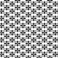 Modernes geometrisches nahtloses Muster mit Blumenformen vektor