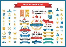 vintage emblem samling