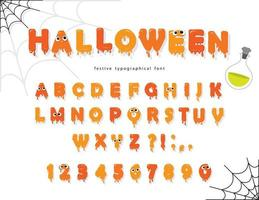 Halloween Pumking Schriftart vektor