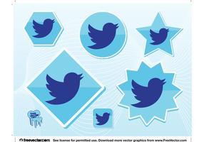 Neuer Twitter Vogel vektor