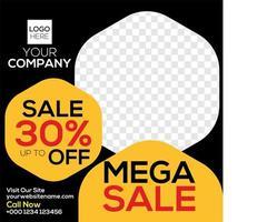 Mega Sale Upp till Av vektor