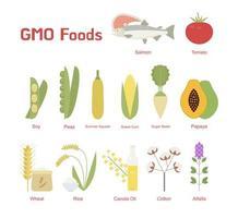 Representativa livsmedel som ofta manipuleras. vektor