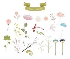 Ein elegantes und emotionales Pflanzendekorationsset. vektor