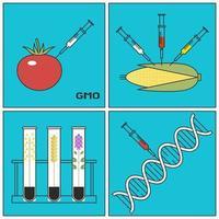 Forschungskonzept gentechnisch veränderter Pflanzen GVO vektor