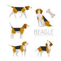 Söt design för karaktär för beagleskulpturbegrepp.