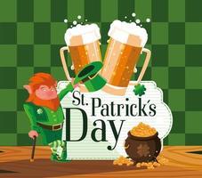 St. Patrick Tag mit Kobold