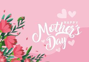 glückliche Muttertagsdekoration