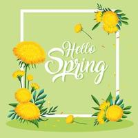 Hallo Frühlingsrahmen vektor