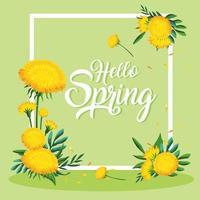 hej våren ram vektor