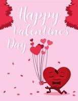 lycklig alla hjärtans dagskort vektor