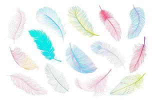 Färgglada fjädrar kollektion vektor