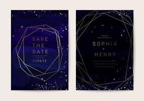 Lyxigt bröllop inbjudan kort samling