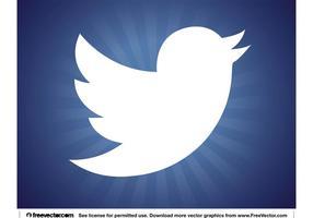 Neues Twitter Vogel Logo vektor