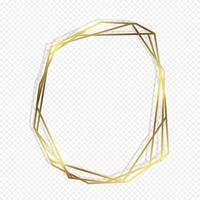 Guld geometrisk ram vektor