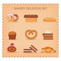 Söt bageriuppsättning