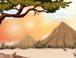Naturszene mit Berg und Baum