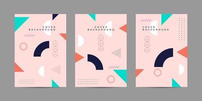 Memphis Cover Hintergrund Sammlung vektor