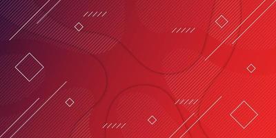 Roter geometrischer Hintergrund mit Farbverlauf