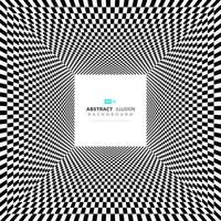 Abstrakt minimal fyrkantig svartvit illusionbakgrund