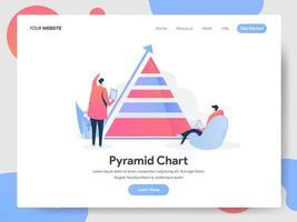 Pyramidendiagramm-Illustrations-Konzept