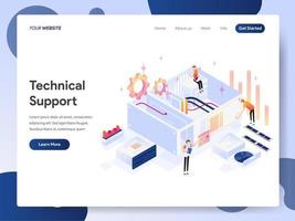 Technischer Support isometrische Illustration Konzept