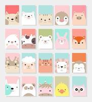 Gezeichnete Art der netten Babytierkartenkarikatur Hand