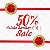 WebSale Raksha Bandhan Dekorative Werbung vektor