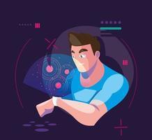 Mann mit VR-Technologie