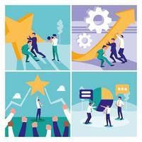 Reihe von Teamwork-Grafiken