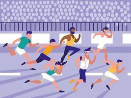 männliche Leichtathletik laufen vektor