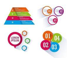 uppsättning infographics och nummer